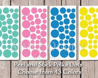 Polka Dot decals - Small Peel and Stick Polka Dots - Polka dot stickers -  DIY