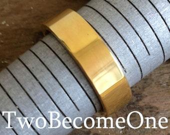 5mm Ladies 18k Yellow Gold Flat Court Shape Handmade Wedding Ring / Band / 7.2g