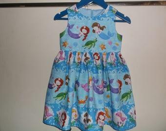 Blue mermaids dress