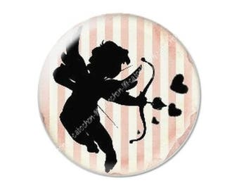 resin cabochon mounted on a stick 25 mm Valentine Cupid 4