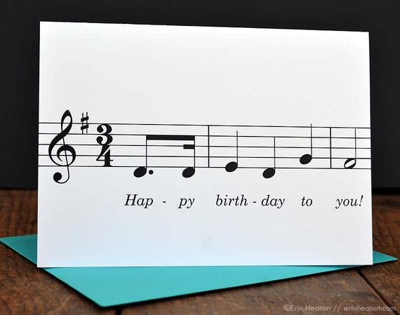 Happy birthday to you music note birthday card musician happy birthday to you music note birthday card musician birthday card treble clef card music teacher card musician gifts bookmarktalkfo Images