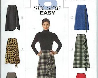 Butterick 4661 Six Sew Easy Skirts Pattern, Size 8-14 & 16-22 UNCUT