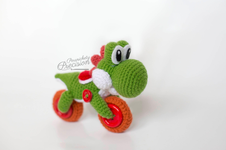 Crochet Motorcycle Yoshi Yoshi\'s Woolly World