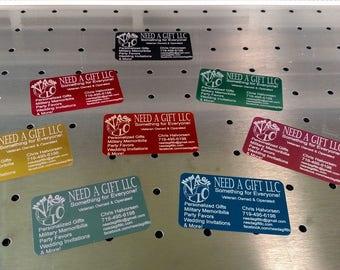 Metal Business Cards - Executive Business Card (set of 50)