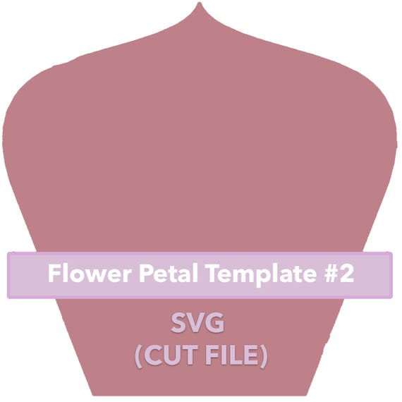 Paper Flower Template  Svg File