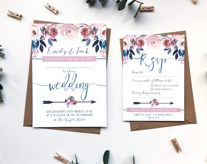 Wedding Invitation Suite SAMPLE - Layla Collection