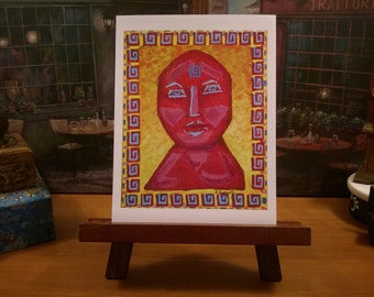 Goddess Art / Sunday Smile / Abstract Portrait / From my Original Painting / Lagniappe Collection / Certificate of Authenticity