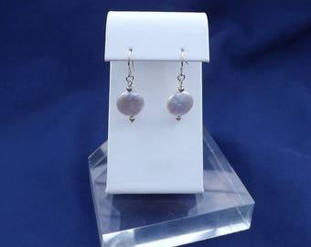 PEARL EARRINGS, COIN pearl earrings