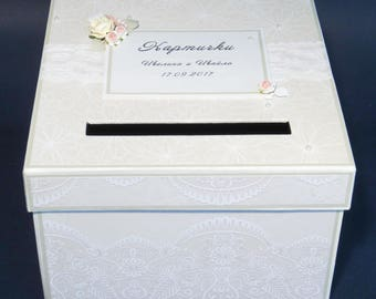 Wedding card box Card holder Wedding memory box Bridal box Wedding Money box Personalized wedding gift box Mail box with slot Wedding gift