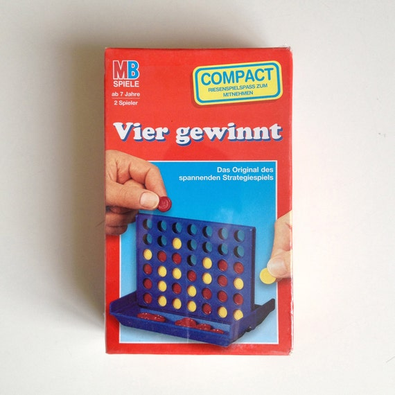 vier gewinnt compact mb spiele 1980s classic four in a row. Black Bedroom Furniture Sets. Home Design Ideas