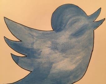 Watercolor Twitter Bird