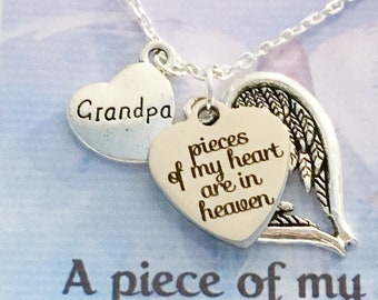 Memorial Gift Gift For Her Pendant Necklace Memorial Necklace Grandparents Sympathy Gift Loss of Grandparent