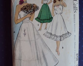 1951  pattern for camisole and petticoat- McCall's 8728- size 34 bust-uncut