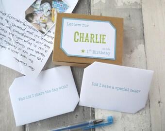 First Birthday Gift - 1st Birthday Gift - First Birthday Girl - 1st Birthday Boy - One Year Old Boy - 1st Birthday - 1st Birthday Card