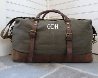 Travel Bag Weekender Duffel Bag For Men Custom Canvas Duffel Bag Leather Duffel Bag Mens Weekend Bag Canvas Weekender Bag Gifts For Best Man
