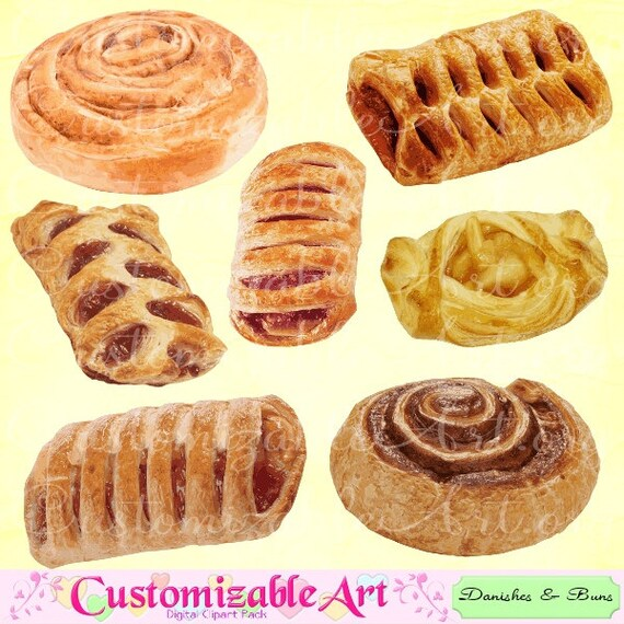 danish clipart digital danish clip art cinnamon bun roll fruit rh etsystudio com danish flag clip art free Donut Clip Art