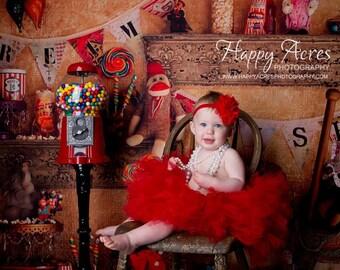 Red tutu and headband, baby tutu, newborn tutu, birthday tutu, newborn photography prop