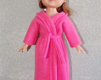 "Pink Robe & Sleep Mask doll clothes for  13"" Corolle Les Cherie 14"" H4H Betsy Mccall tkct201"
