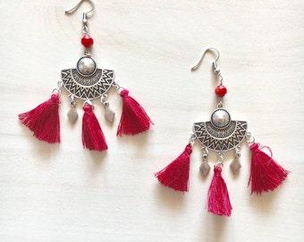 Handmade Earrings Boho Style - Metal Elements - Ancient Greece Style