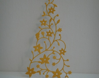 Cutout tree snow desssin adhesive pailleter you face paper for scrapbooking or card