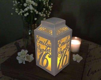 Custom Sweet 16 Decorations / Sweet 16 Girl / 16th Birthday / Sweet 16 Party Supplies / Sweet Sixteen / Luminaries / Paper Lanterns