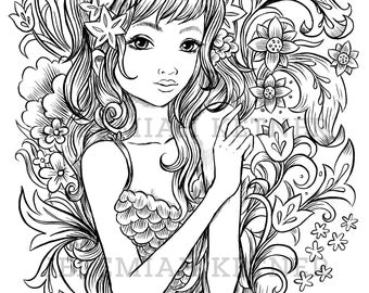 Flower Shower - Coloring Page