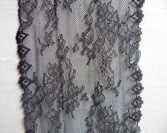 p6 dentelle de france noire large 16cm stock 40mt prix 5usd/1mt