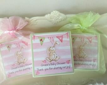Vintage Bunny Baby  shower favors, party favors,  set of 10 soap favors