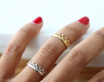 READY TO SHIP. No crown , No queen silver ring. crown silver band. Crown sterling