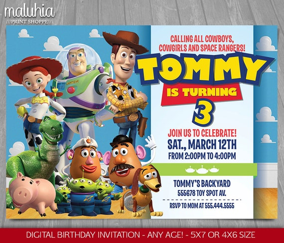 Toy Story Invitation Toy Story Invite Disney Pixar Toy