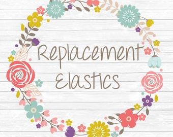 Replacement Elastics - includes elastic and felt for heart back