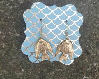 Gold Fish earrings dangle