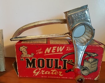 """The New rotary """"Mouli"""" Grater. 1950s vintage cheese grater."""
