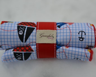 A Pirate's Life for Me - Waterproof Baby Changing Pad (Made to Order)