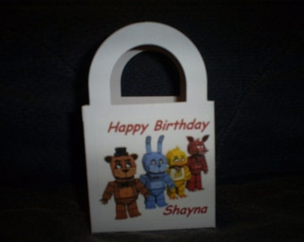 Five Nights at Freddy's Personalized Birthday Party goody Bags / Boxes set of 12