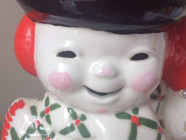 Vintage Light Up Ceramic Snowman Atlantic Mold Holiday Decor Gallery Photo