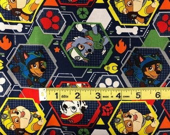 Nick Jr. Paw Patrol Fabric featuring Marshall & many more characters, rescue fabric, cartoon fabric, preschool fabric