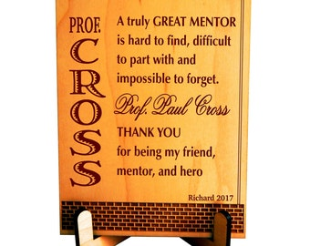 Gift for Teacher - Gifts for College Professor Personalized -  Teacher Appreciation Gift - Thank You Gift from Student, PLT002