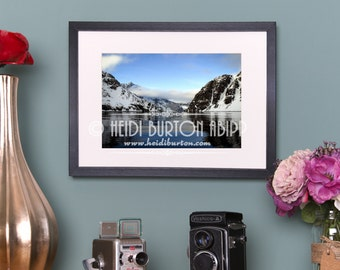 Photographic Art Print of Drygalski Fjord, South Georgia, Antarctica.  Colour wall art, poster print, choose your size.