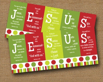 Instant Download Christmas Card | DIY PRINTABLE | JESUS Scripture Christmas Card | Christian, Bible Verse Holiday Printable | Religious Card