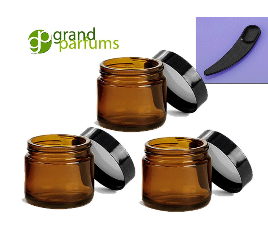 24 2 Oz Amber Glass Jars Quality Empty Cosmetic Containers