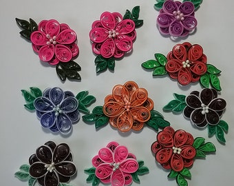 Quilled Paper Flower Magnets, Forks Washington