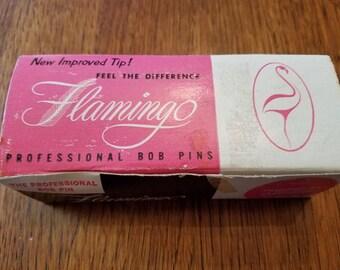 Vintage Flamingo Brand Professional Bob Pins Bobby Pins