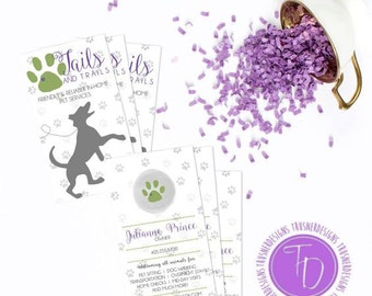 pet sitting business cards