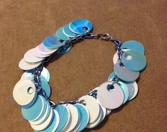 Blue sequin bracelet