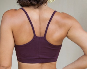 Yoga Bra - Basic, Cotton Yoga Bra - 'Ekam' Yoga Bra - Sports Bra - Yoga Wear - Dance Wear