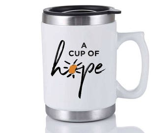 Cup Of Hope Travel Mug - White Elephant Gift - Christmas Gag Gift - Holiday Gift Exchange - Stocking Stuffer - Office Party Gift