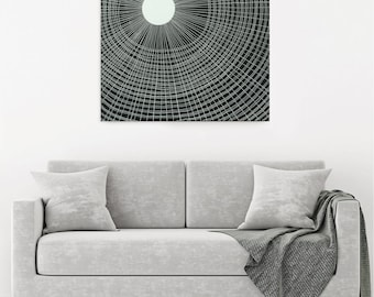 black and white abstract painting - teahouse - original artwork, australian artist, contemporary artist, abstract artist, australian art