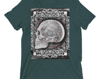 Hold onto skull with wine and clay