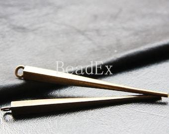 4 Pieces / Bar / Stick /  Chopsticks / Antique Brass Tone / Base Metal / Charm / Pendants (Y13900//D330)